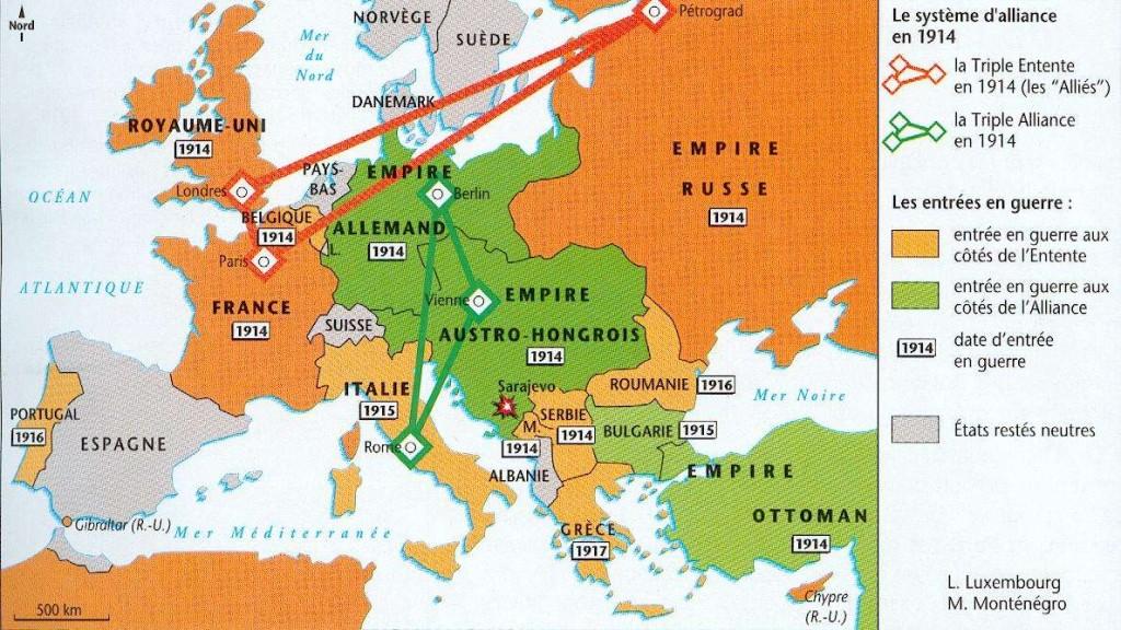 Une guerre ? Pourquoi ?  entree-guerre-europe-1914