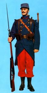 L'uniforme de la Grande Guerre soldat-du-27e-regiment-d-infanterie-1914-153x300