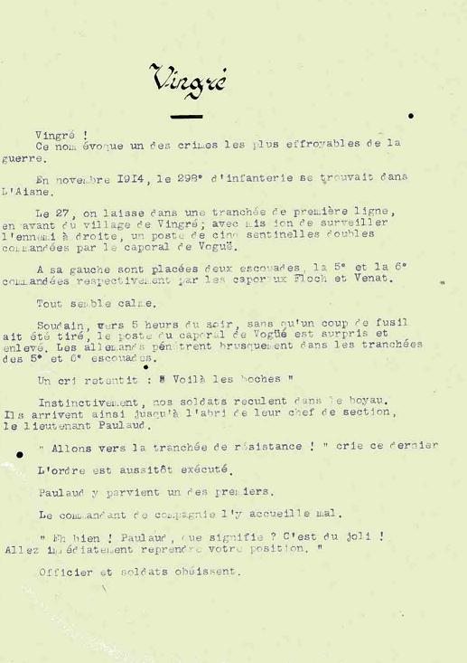 Les crimes des Conseils de guerre Vingré texte 1925 vingre-lettre