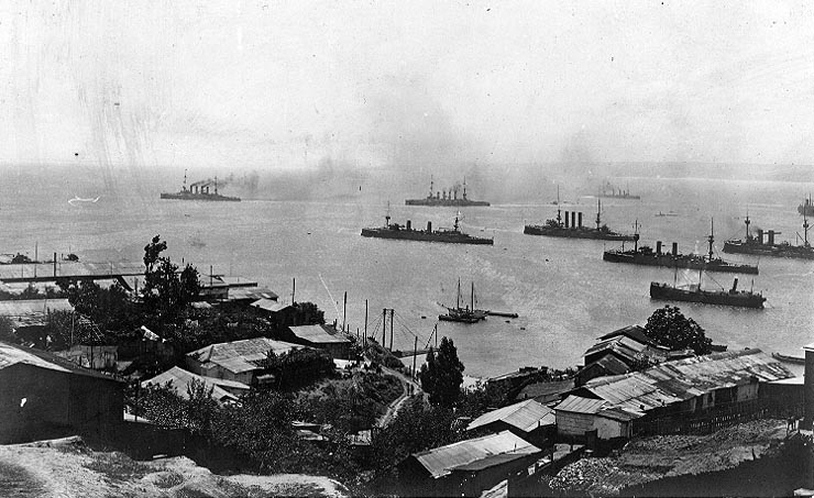 La bataille de Coronel (1er novembre 1914) bataille-coronel-image