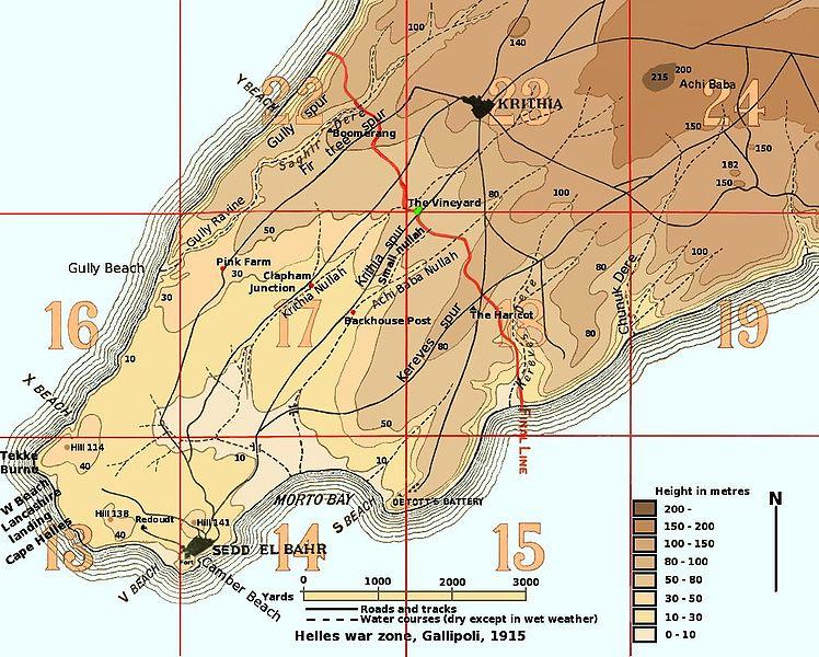 Les batailles de Krithia bataille-krithia-2-carte