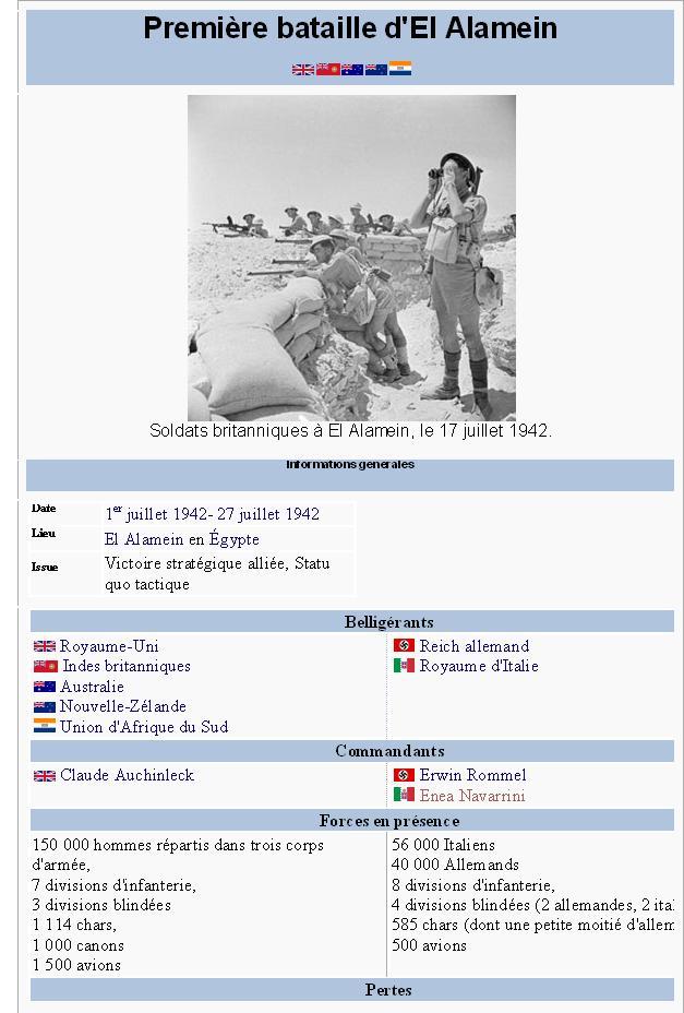La première bataille d'El-Alamein alamein1