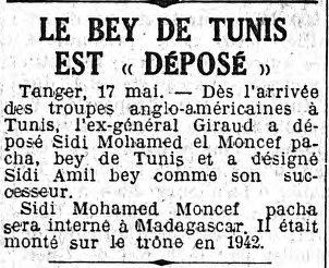 Le Bey déposé ?  bey-tunis