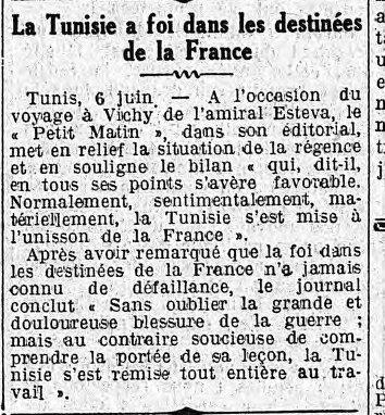La Tunisie a foi dans les destinées de la France tunisie