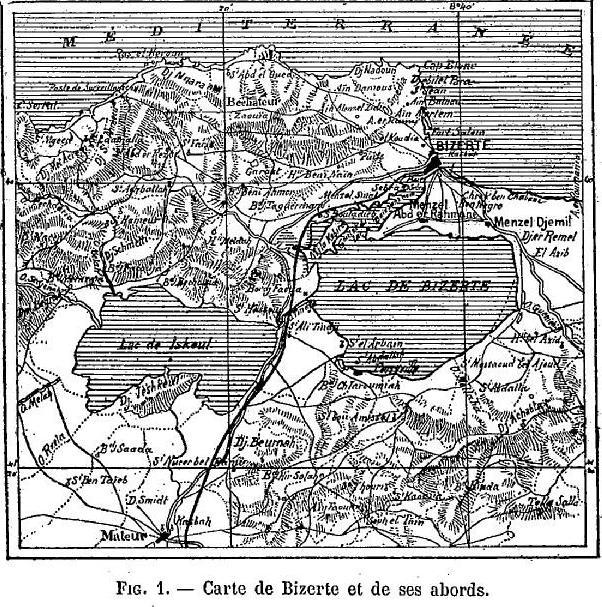 Travaux du port de Bizerte et de l'Arsenal de Sidi Abdallah  carte-de-bizerte-et-ses-abords-1