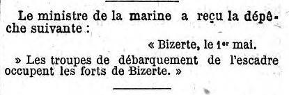 1er Mai 1881 - La prise de Bizerte  les-troupes-debarquent-au-fort-de-bizerte-le-1-mai-1881