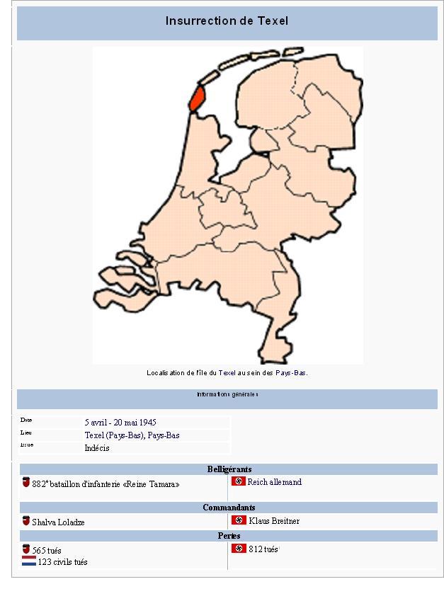 L'insurrection géorgienne de Texel  texel